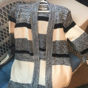 Loft navy and ivory Striped cardigan! NWOT!!!